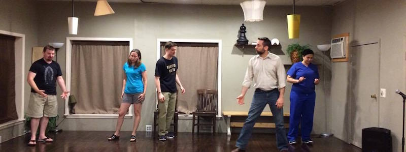 dial i for improv does warm ups